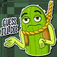kovboj kaktus stickers telegram 03