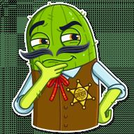 kovboj kaktus stickers telegram 10