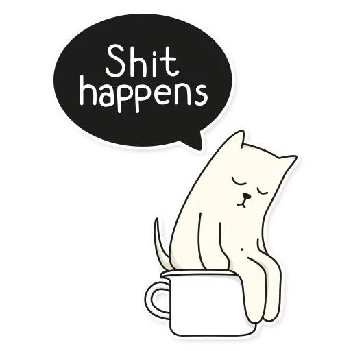 Стикеры My Imaginary Cat